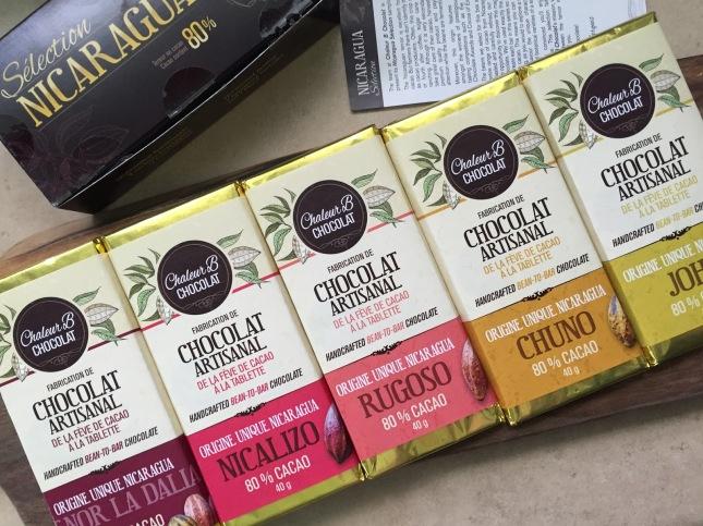 Nicaragua Tasting Box by Chaleur B Chocolat